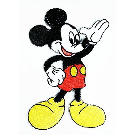 Mickey Mouse Cartoon 5.2cm x 8.2cm Iron On Applique Embroidery Patch