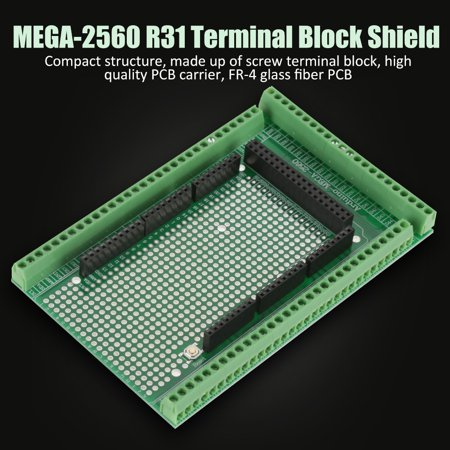 1 set MEGA-2560 R31 Prototype Screw Terminal Block Shield Board Kit , Terminal Blocks Module, Breakout Board