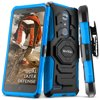 ZTE MAX XL Case, Evocel [Belt Clip Holster] [Kickstand] [Dual Layer] New Generation Phone Case for ZTE MAX XL (N9560) / ZTE Z986 , Blue Experience the New Generation difference by Evocel. This phone case offers dual layers of rugged protection with a shock-absorbing silicone inner layer and an impact-resistant polycarbonate shell. The New Generation is a reliable and highly-protective case made to precisely fit your device.BELT CLIP ATTACHMENTA separate, removable 180-degree swivel belt clip attachment makes carrying your phone simple. Customize the position of your phone the way you want, eliminating the bulk in your pocket.KICKSTANDA built-in locking kickstand allows for hands-free viewing of all your favorite content on your phone in landscape orientation.HARD OUTER SHELLKeep the surface of your phone clean of nicks, smudges and scratches with a hard impact resistant exterior cover constructed of polycarbonate material.SOFT INNER LININGThe rigid, yet soft fitted inner silicone liner is the second layer of protection that wraps around your phone to help cushion it against the day-to-day wear and tear of use.RAISED LIPThe streamline rim construction of the TPU is one of many case features that help to maximize protection by absorbing low impact drops.
