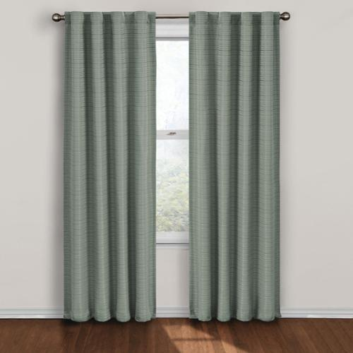 Twist Blackout Window Curtain Panel 84-Inch Blue