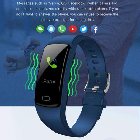 Fitness Tracker with Heart Rate Monitor Blood Pressure Smart Bracelet Color Display Sports Watch Pedometer Step Calorie for Women Men Kids - image 2 of 9