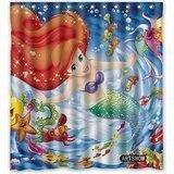 DEYOU Ariel The Little Mermaid Shower Curtain Polyester Fabric Bathroom Shower Curtain Size 66x72 inch