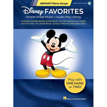 Disney Favorites - Instant Piano Songs: Simple Sheet Music + Audio Play-Along (Song Vintage Sheet Music)