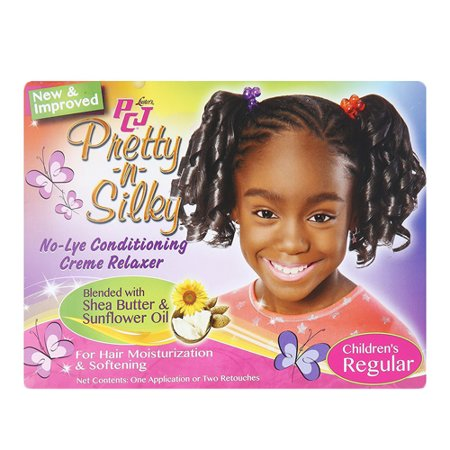 Lustre Creme - Lusters PCJ Pretty-N-Silky No-Lye Childrens Conditioning Creme Hair Relaxer Kit, Regular, 1 Ea