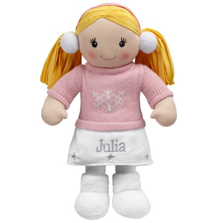 Personalized All Dressed Up Winter Cutie Rag Doll - 2 Hair Colors Avaialable