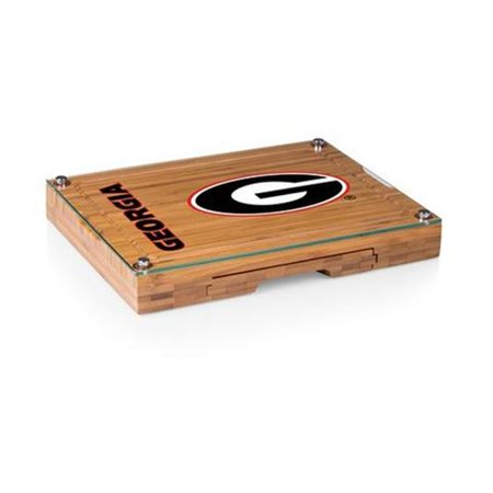 Picnic Time 919-00-505-184-0 Georgia Bulldogs - Concerto Bamboo Cutting Board, Tray & Cheese Tools Set - image 1 of 1