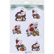 "Sugar Nellie Topper Sheet 8.5""X12.2""-Jolly Christmas"