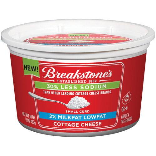 Breakstone's Lowfat 30% Less Sodium Cottage Cheese, 16 oz