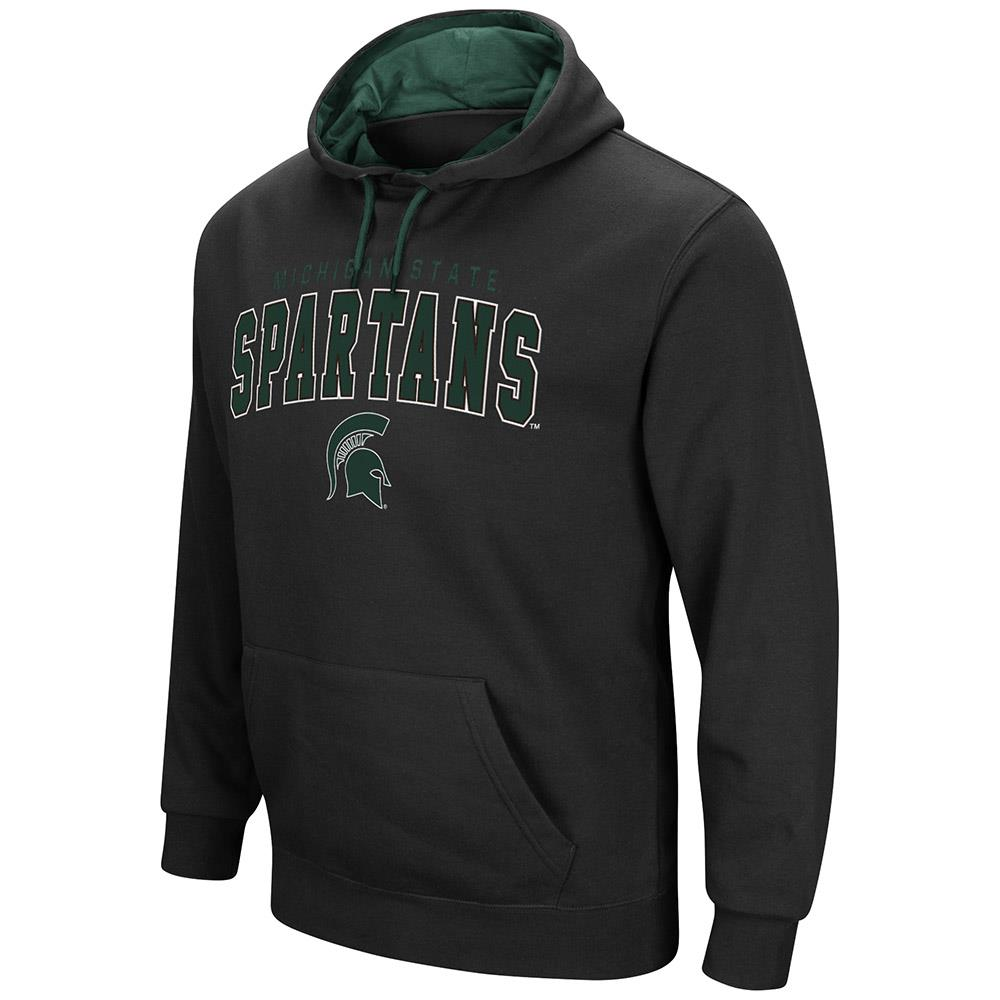 Mens Michigan State Spartans Pull-over Hoodie by Colosseum
