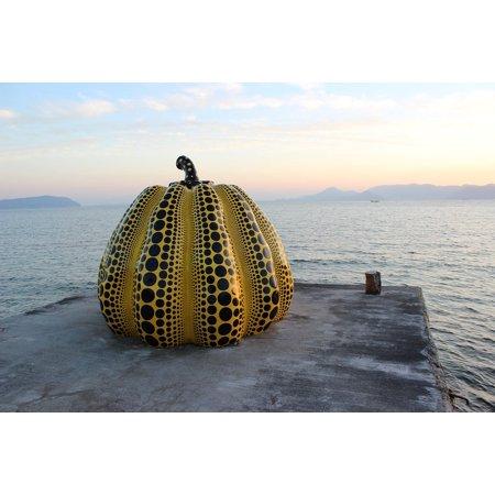 - LAMINATED POSTER Pumpkin Attraction Island Art Sculpture Landmark Poster Print 24 x 36