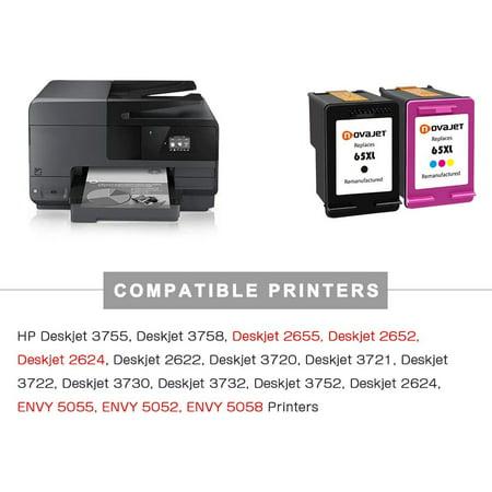 2 PK Novajet Black Color for HP 65XL (1*Black & 1*Tricolor ...