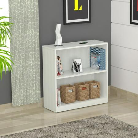 Inval Laura Collection Bookcase with Hutch, Laricina-White (Collection Organizer Hutch)