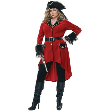 High Seas Heroine Plus Size Costume](Plus Size Avatar Costume)
