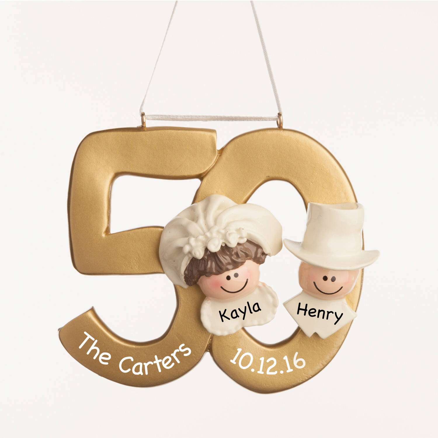 Personalized Christmas Ornament - 50th Anniversary