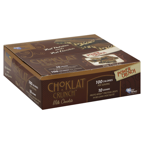 BioNutritional Research Group Choklat Crunch Protein Crisps Milk Chocolate -- 12 Bars