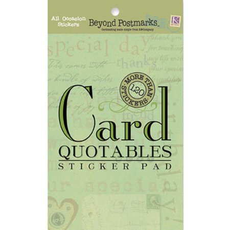 k company beyond postmarks all occasion card quotables stickers pad