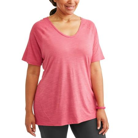 5125040fcc8 Terra   Sky - Women s Plus Size Active Tee - Walmart.com