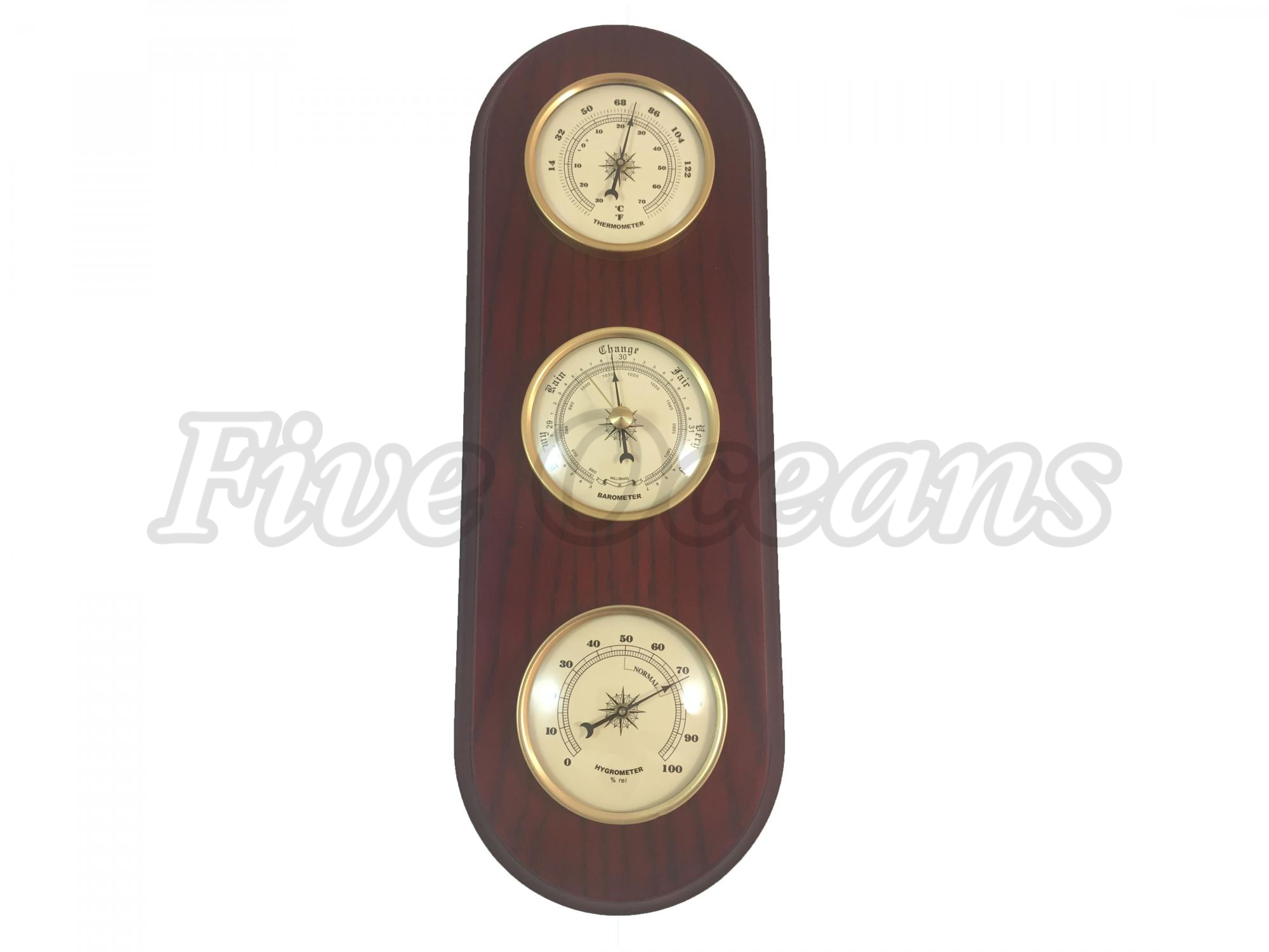 Nautical Porthole Wall Weather Station Instruments includes a Precision Barometer, Thermometer, and a... by