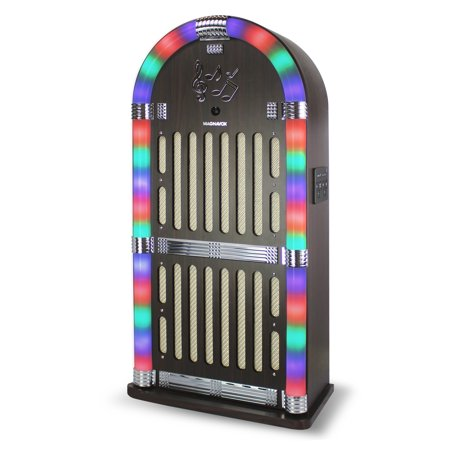 Magnavox Jukebox Speaker System with FM Radio, Bluetooth and Color Changing  Lights MHT935BT