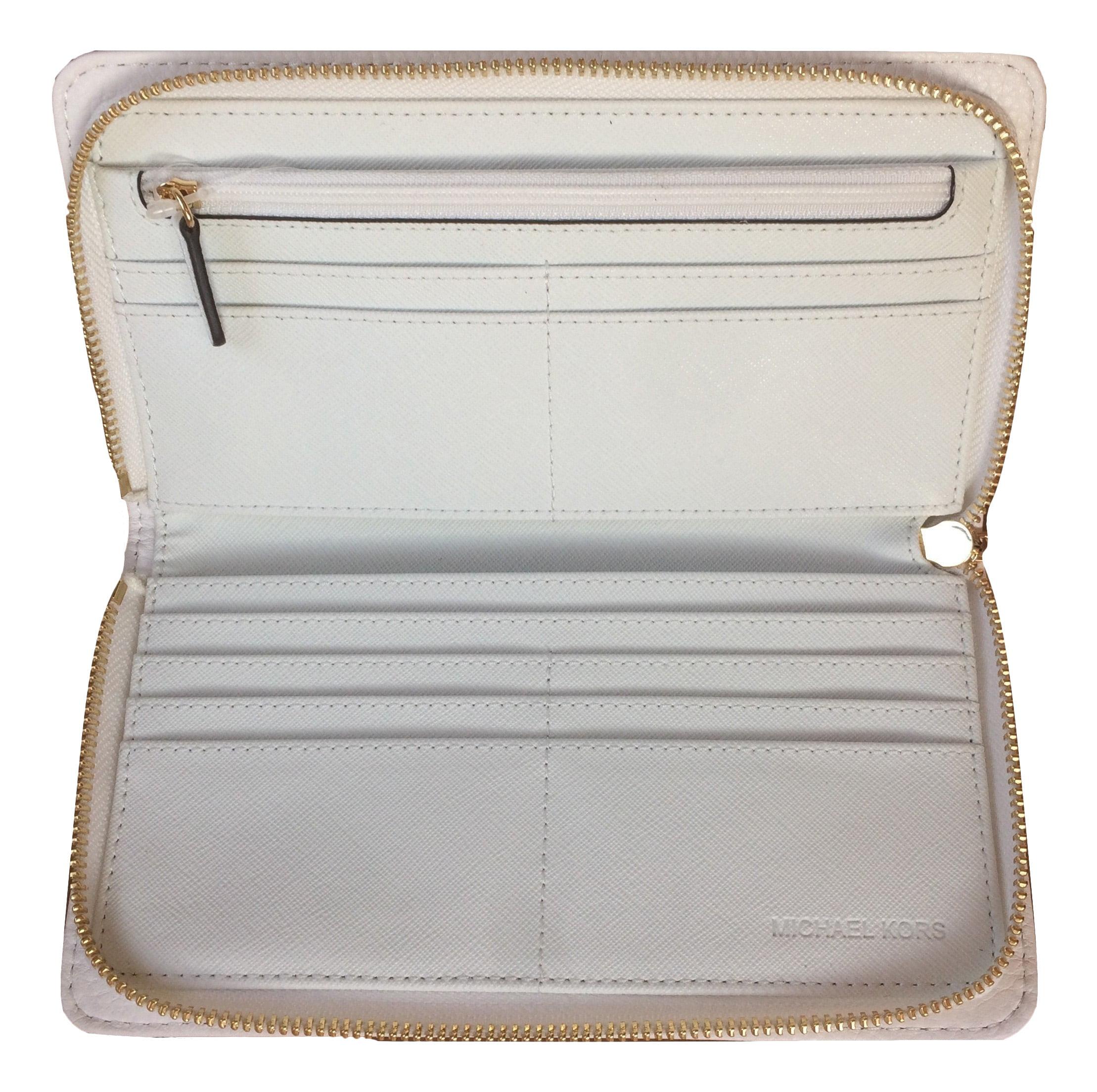d767148088cb7 Michael Kors - Michael Kors Hamilton Traveler Large Zip Around Leather  Wallet - Walmart.com