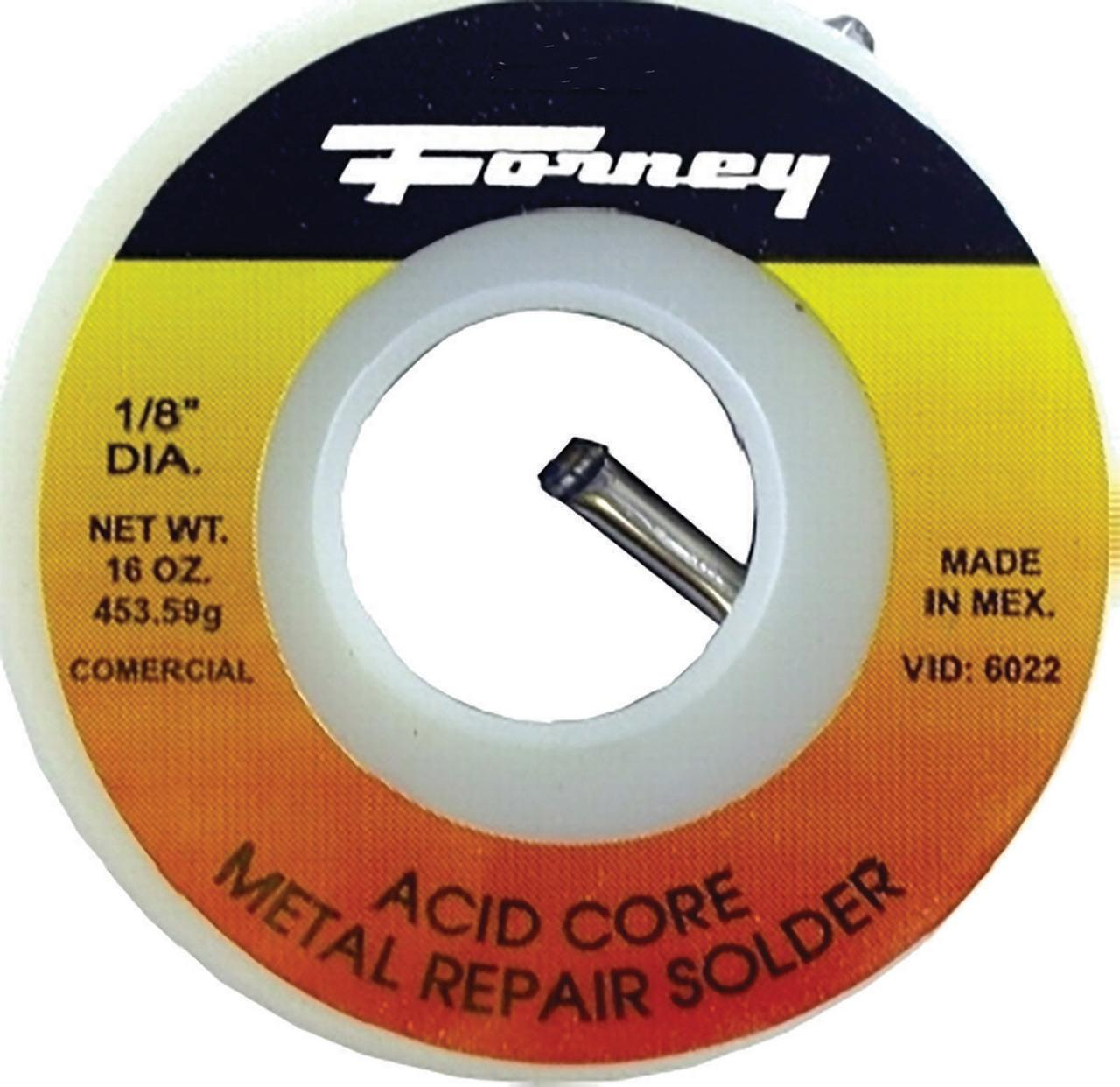 Forney 38103 General Purpose Self-Fluxing Acid Core Solder Wire, 1/4 lb, Red
