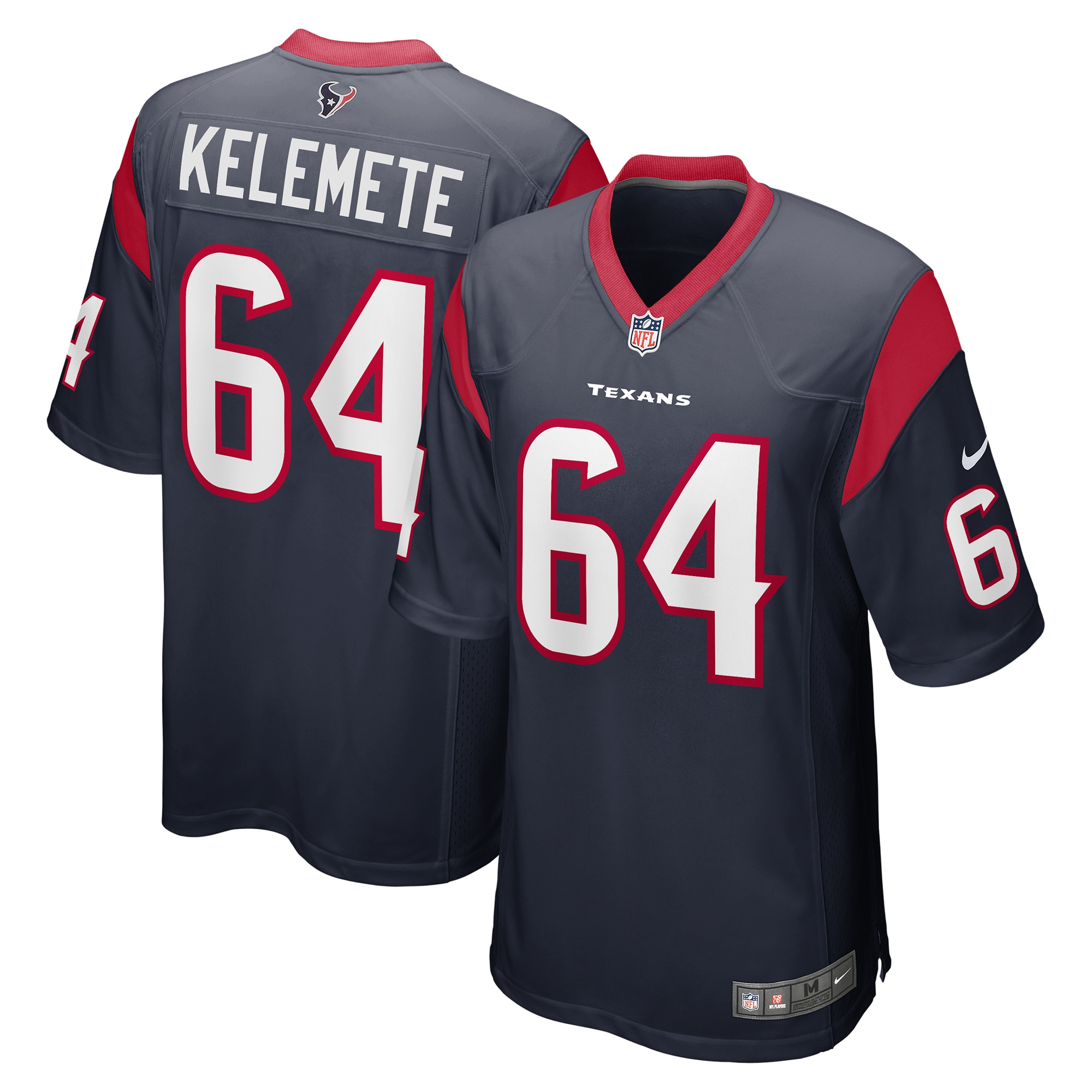 Senio Kelemete Houston Texans Nike Game Jersey - Navy - Walmart.com