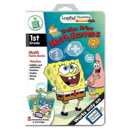 LeapFrog LeapPad Plus Writing Educational Book: SpongeBob SquarePants - Brainy, Briny Math - Spongebob Educational Games