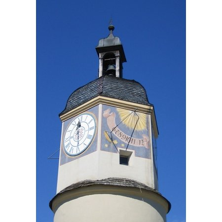 LAMINATED POSTER Sundial Clock Summer Time Castle Poster Print 24 x 36