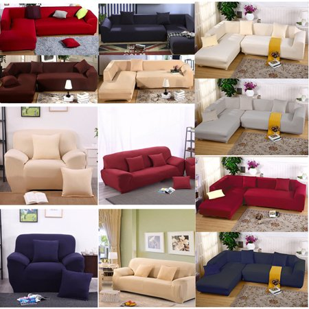 Stretch Sofa Cover Slipcover 1 2 3 Seater, 2 Seat +3 Seat / 3 Seat +3 Seat  Elastic Sofa Cover Couch Sofa Protector Furniture Slipcover Pure Color Anti  ...