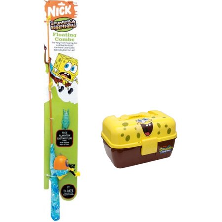 Zebco spongebob rod and reel combination with tackle box for Walmart kids fishing poles