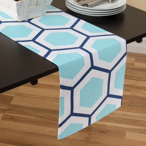 Linen Tablecloth Honeycomb Table Runner by Linen Tablecloth