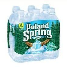 4 Pack :Poland Springs Black Cherry Sparkling Natural Spring Water, 16.9 Fluid Ounce 6 per... by