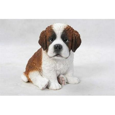 Hi-Line Gift 87771-L Pet Pals - Sitting Saint Bernard Puppy -
