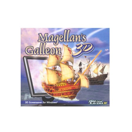 Magellan's Galleon 3D Screensaver- XSDP -LQDREMAGAJ - Join Magellan and his crew on their legendary voyage around the globe. The wind ripples the unfurled sails, as cannons roar and waves slap th
