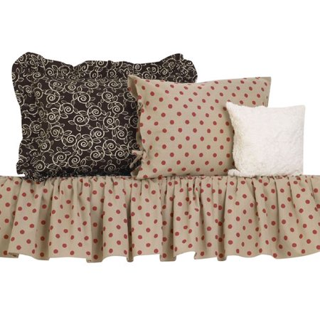 Cotton Tale Raspberry Dot Comforter Set