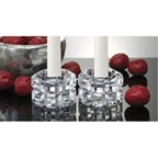 Godinger Diamante Crystal Candle Votive Holder, 2-Piece (14856)