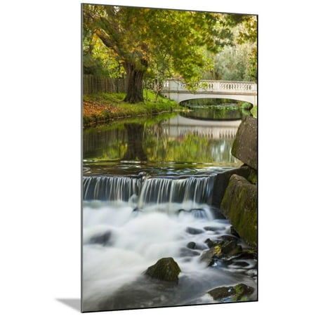Roath Park, Cardiff, Wales, United Kingdom, Europe Wood Mounted Print Wall Art By Billy (Cardiff Wall)