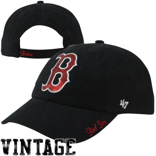 Boston Red Sox '47 Brand Women's Sparkle Slouch Hat - Navy - No Size