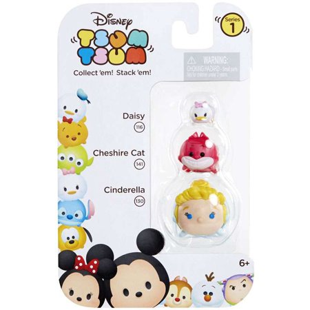 Disney-Tsum-Tsum-Series-1-Daisy-Cheshire-Cat-Cinderella-Minifigure-3-Pack