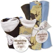 Trend Lab Bibs and Burp Cloths Bouquet Set  Rockstar