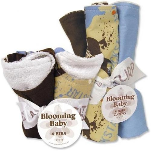 Trend Lab Bibs and Burp Cloths Bouquet Set - Rockstar