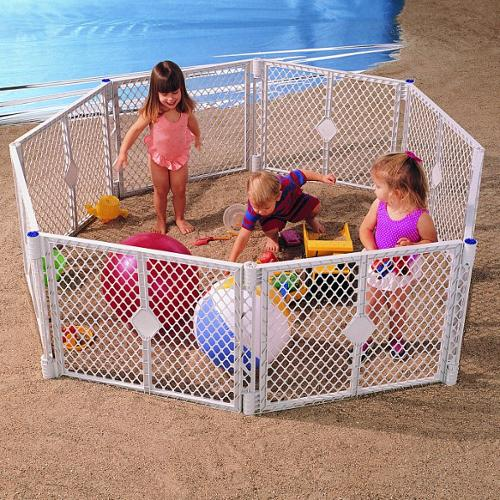 North States Classic Superyard Baby/Pet Gate & Portable Play Yard - 8 Panel