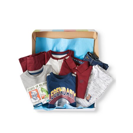 Outfit Gift Set - 365 Kids from Garanimals Kid-Pack Mix & Match Gift Box, 7-Piece Outfit Set (Little Boys & Big Boys)