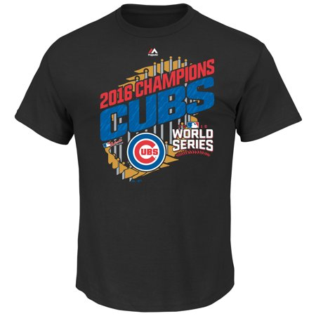 Mens Majestic Black Chicago Cubs 2016 World Series Champions Big   Tall Parade T Shirt