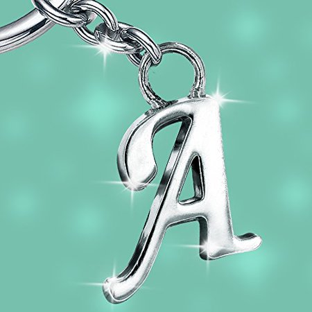 Stylish Letter A Simple Alphabet Key Ring Creative Packaging