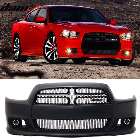- Fits 11-14 Dodge Charger SRT8 Style Hellcat Conversion Front Bumper Cover - PP