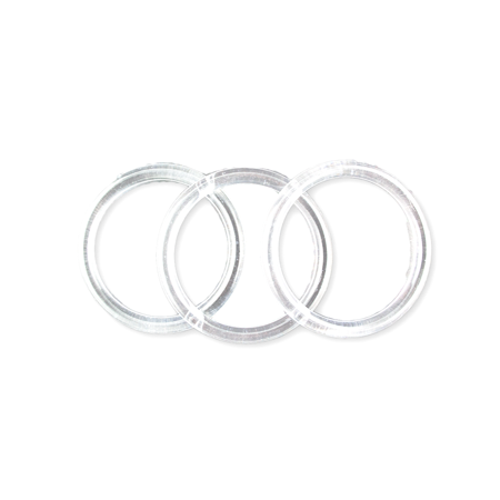4 inch Clear Plastic Acrylic Craft Rings 12 (Plastic Craft Rings)