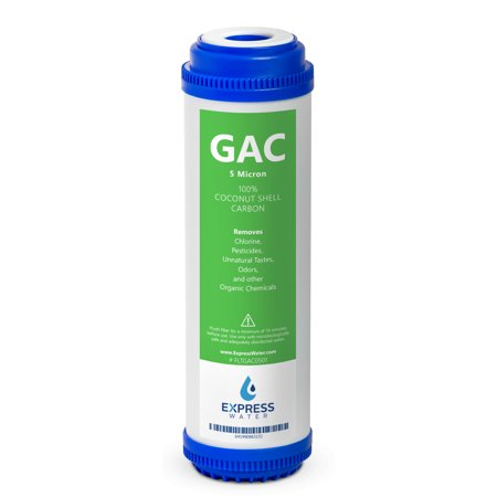 Express Water – Granular Activated Carbon GAC Water Filter Replacement – 5 Micron – 10 inch – Under Sink and Reverse Osmosis (Gac Granular Activated Carbon)