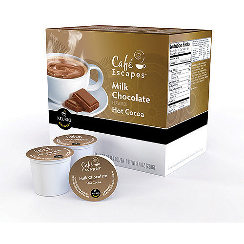 Keurig K-Cups, Cafe Escapes Milk Chocolate Hot Cocoa, 16ct