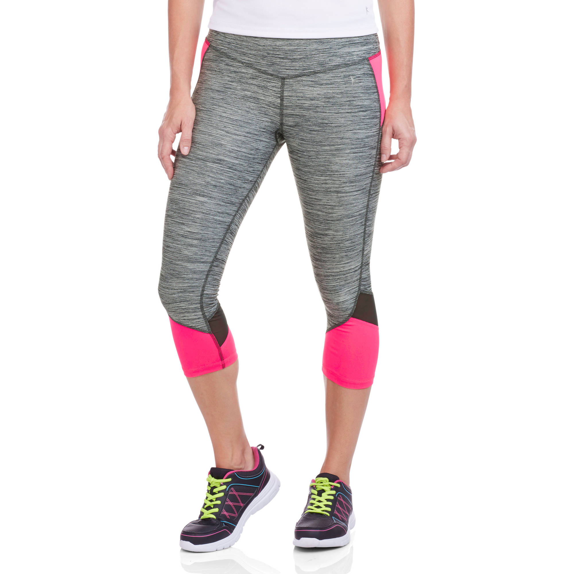Danskin Now Women's Performance Capris with Mesh Detail